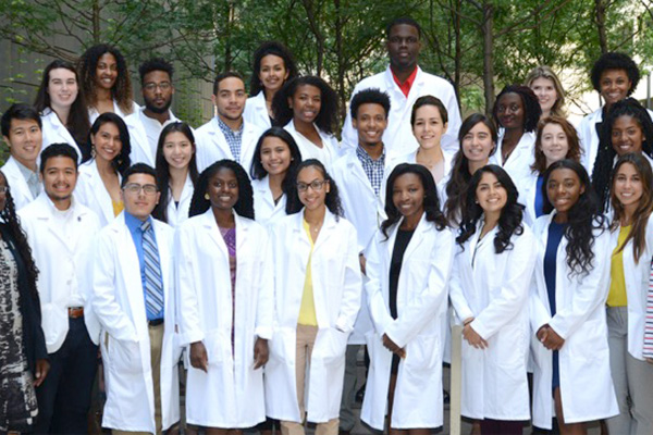 Diverse group of medical students