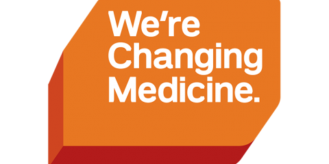 We're Changing Medicine campaign badge