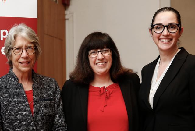 Dr. Katherine Hajjar, Martha Pollack and Dr. Ruth Gotian