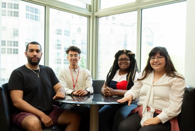 New Weill Cornell IMSD students from left to right: Rafael Colon, Viktor Belay, Amanda Simon and Valerie Gallegos.