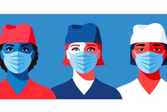 vector illustration of femaile doctors
