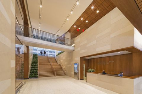 Belfer Research Building lobby